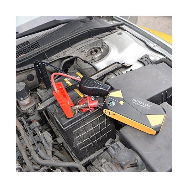 Auto de VOX P2Auto Jump Starter Arranque 500A Punta corriente 14000mAh portátil auto batería externa cargador de batería con Kompas, LED Linterna para Laptop, Smartphone, Tablet y mucho más