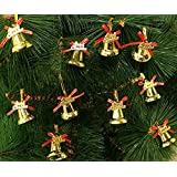 AMFIN® (Pack of 12) Bell Christmas Tree Hanging Ornament Party Xmas Decoration