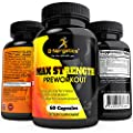 B-Nergetics Max Strength Preworkout Nitric Oxide, Muscle Building and Performance Booster Blend 60 Caps by B-Nergetics