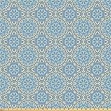 ABAKUHAUS Arabisch Microfaser Stoff als Meterware,