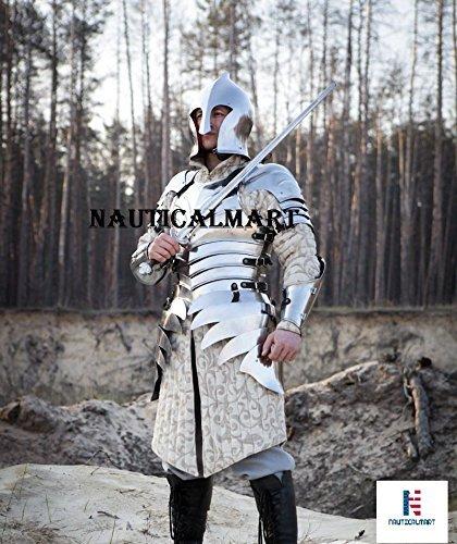 Armour Mittelalter Renaissance Elfen funktionelle Armor Hälfte Body Armour tragbar Kostüm (Benutzerdefinierte Halloween Requisiten)