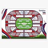 Wandkings WM Spielplan Fußball Weltmeisterschaft 2018 - Wähle eine Größe - 30 x 40 cm