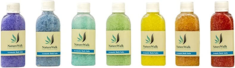 NatureWalk Aromatherapy Bath Salts For 7 Chakra Healing with essential aroma oils