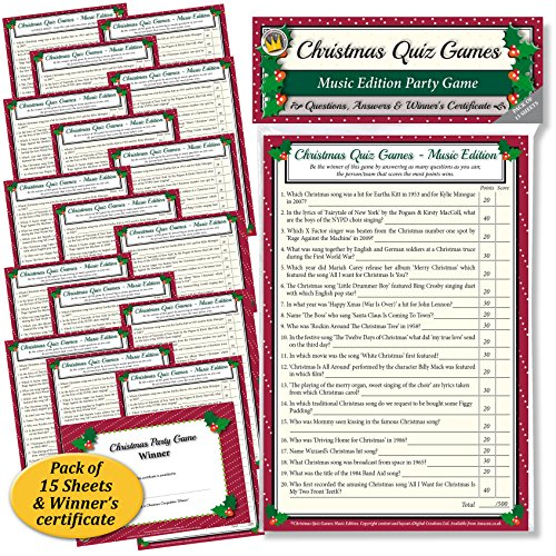 CHRISTMAS QUIZ GAMES: MUSIC EDITION PARTY GAME for Family