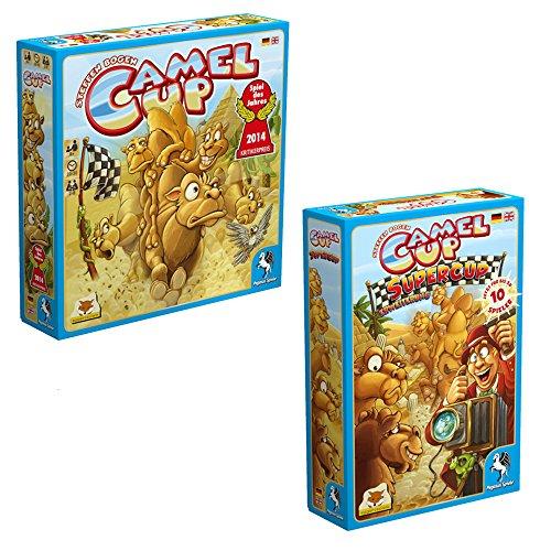 Preisvergleich Produktbild Pegasus Spiele 54541G - Camel Up - Spiel des Jahres 2014 + Pegasus Spiele 54546G - Camel Up: Supercup, Brettspiele