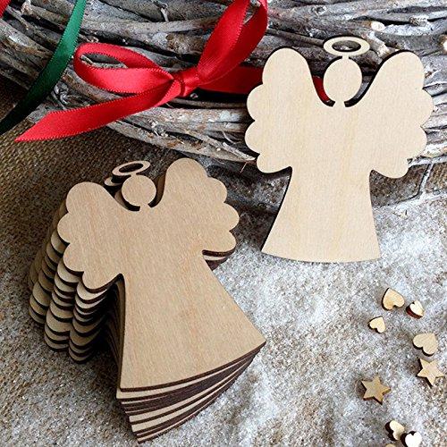 Lanlan Holz Engel Dekorieren Weihnachtsbaum hängende Dekoration Ornament Weihnachten Anhänger - Halloween-film-zeichen Beste