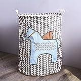DOXMAL Wäschesammler Waeschekorb Faltbarer Wäschekorb Korb Wäsche Wäschekorb Kinderzimmer Wäschekorb Holz Wäschekorb Plastik Wäschekorb Faltbar Wäschesammler Kinderzimmer Blaues Pferd