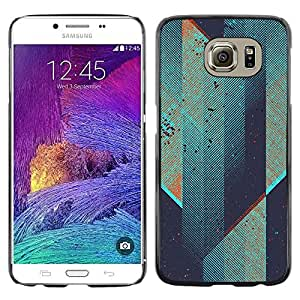 Omega Covers - Snap on Hard Back Case Cover Shell FOR Samsung Galaxy S6 - Futuristic Skyscraper Teal Architect