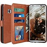 Custodia Samsung Galaxy S8, LK Case in Pelle PU di Lusso Portafoglio con Fessure di carta Cover Protettiva - Marrone
