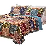 Unimall Tagedecke 100% Baumwolle Doppelbett Bettüberwurf / Sofaüberwurf Shabby chic Muster