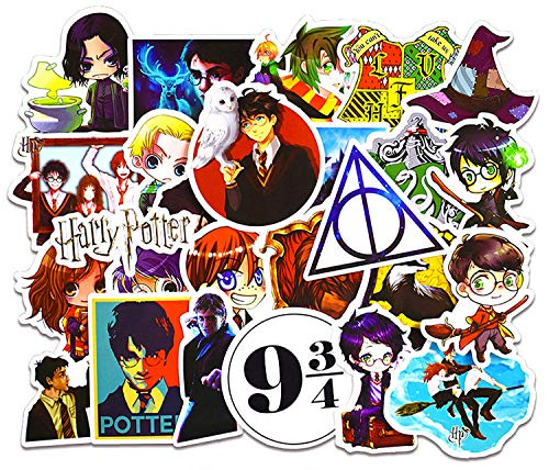 Sanmatic Harry Potter Cartoon wasserdichte Aufkleber 50pcs Auto Laptop Helm Gepäck Vintage Skateboard Wall Decor Geschenk für Kinder
