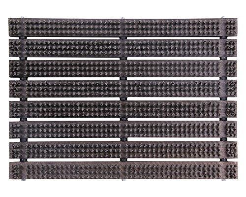 Ondis24 Schuhabtreter Fußabtreter Bürstenmatte Abstreicher Fußmatte 60 x 40 cm