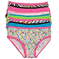 Simply Adorable Little Girls Multi Color Animal Print 7 Pc Underwear Set 4