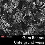 MST-Design Wassertransferdruck Folie I Starter Set Klein I WTD Folie + Dippdivator/Aktivator + Zubehör I 2 Meter mit 100 cm Breite I Grim Reaper Gevatter Tod Schwarz I CD-628-MS
