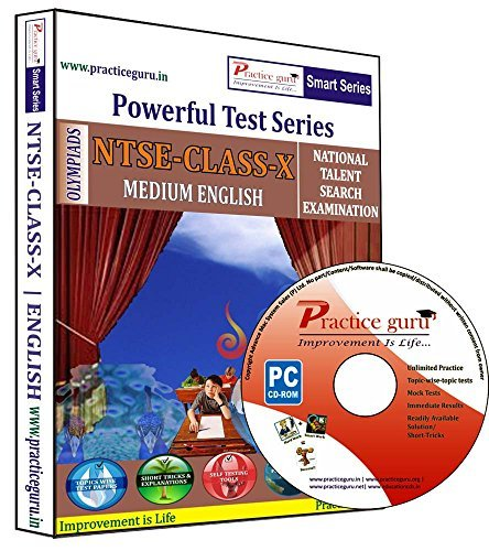 Practice Guru NTSE Class 10 Test Series (CD)  available at amazon for Rs.671