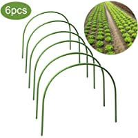 lulalula 6-Pack Greenhouse Hoops, 4ft Long Steel with Plastic Coated Hoops, Rust-Free Grow Tunnel, Support Hoops for Garden Fabric