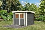 Karibu Gartenhaus LIMBURG 5 terragrau Gerätehaus 242x246cm 19mm