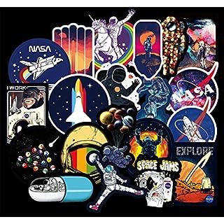 Honch Vinyl-Aufkleber für Laptop, iPad, Auto, Gepäck, Wasserflasche, Helm, LKW NASA