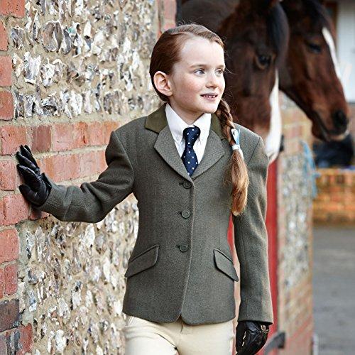 Dublin Cubbington Kinder Tweed Jacke, grün