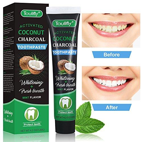 Natural Coconut Aktivkohle Zahnaufhellung Zahnpasta,Charcoal Natural White Tooth Lighting Frische Breath Bleaching
