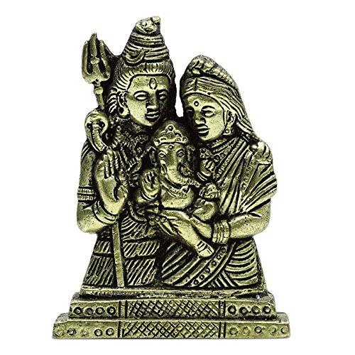 Seigneur Shiva déesse Parvati Tenir bébé Ganesha Saint Bronze Sculpture Home Decor