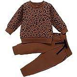 0-4 Años,SO-buts Recién Nacido Bebés Niñas Niños Camiseta Con Estampado De Leopardo Sudadera Abrigo Tops Pantalones Trajes Ro
