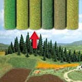 Model Railway Accessory by Busch - Ideal for Model Railways, Military Dioramas and Model Landscapes;Grass Landscape Mat - Flowered Field;Package contents: 100 cm x 80cm;Suitable for a variety of scales including OO/HO Gauge (Picture NOT actual size);...