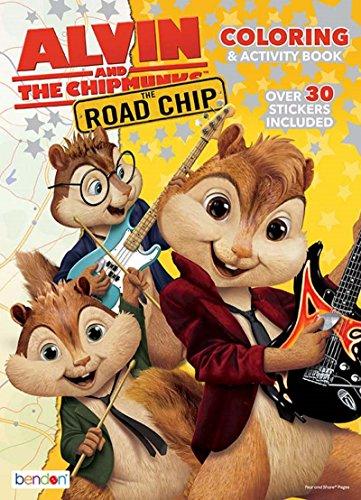 Unbekannt Alvin and The Chipmunks The Road Chip Mal- und Aktivitätenbuch, mit über 30 Aufklebern (Alvin Chipmunks Spielzeug)