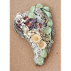 Grabaufleger Herz 30cm aus reinen Naturmaterialien Grabschmuck Grabgesteck Totensonntag Allerheiligen Handarbeit