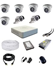 Hikvision Ultra HD 2MP Cameras Combo KIT 8CH HD DVR, 5 Dome, 2 Bullet Camera, 1 TB Hard Disk, Wire ROLL, Power Supply and All Required Connectors