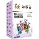 Trubite Breakfast Energy Bar (Assorted Pack) (300g , Pack of 6)   Wholesome Ingredients   No Artificial Sweeteners   No Prese
