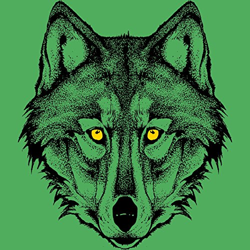 Savage Wolf Men's Graphic T-Shirt - Design By Humans Green