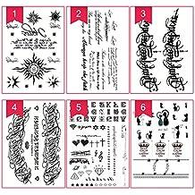 Etiqueta Engomada Del Tatuaje, Kapmore 10 Piezas Etiqueta Engomada Temporal Del Tatuaje Etiqueta Engomada Al