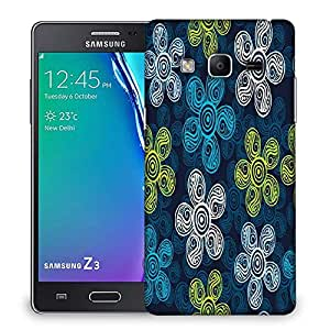 Snoogg Multicolor Floral Abstract Designer Protective Phone Back Case Cover For Samsung Galaxy Tizen T3