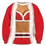Rave on Friday Unisexe Sweat-Shirt Christmas Pullover Faux 2 pièces Noël Femmes Modèle Confortable Pull Couple Costumes Décontractés L