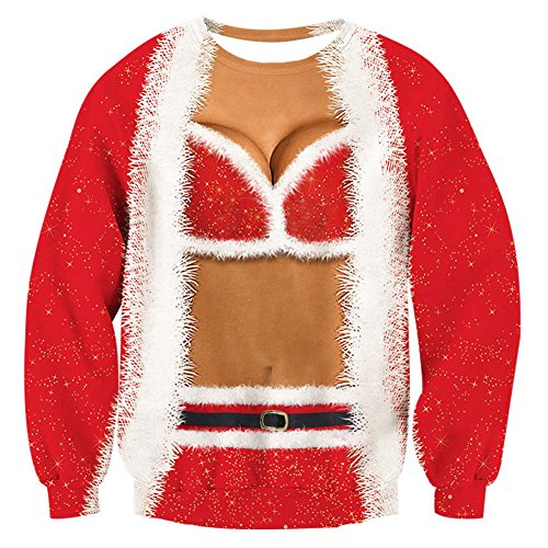 21422d4f9ef Rave on Friday Xmas Sweater Jumper for Men Ugly Christmas Sweatshirt 3D  Printed Funny Womens Christmas
