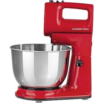 Küchenmaschine Mit Glasschüssel : k chenmaschine 2in1 mit abnehmbarem handmixer 300w rot 1200 umdrehungen rotierende ~ Somuchworld.com Haus und Dekorationen
