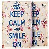 Saxonia Tablettasche für Samsung Galaxy Tab A 9.7 Hülle Case Tablet Tasche Schutzhülle Cover Motiv Keep Calm
