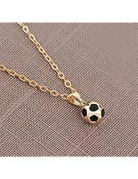 Yonsenner Collar Hermoso Colgante Personalidad de fútbol Fútbol Pendan  Creativo Fútbol ... 85ae99a1d337d