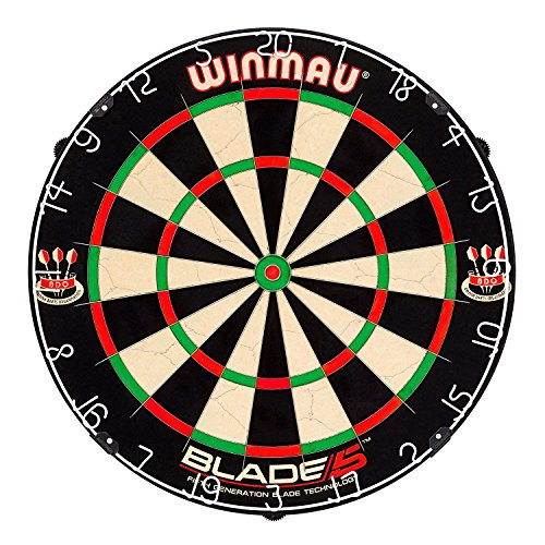 Winmau Blade 5 Dartboard inkl. zwei Phil Taylor Dartsets und Premierdarts Checkout Card