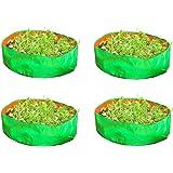 Cocogarden Plastic Green Grow Bags 15x6(Pack of 4)
