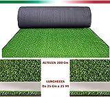 Rasenteppich 7mm Rasen Kunst Gras Garten Teppich breit 2MT Meterware