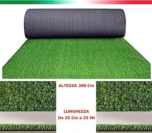 Prato sintetico 7mm manto erboso finta erba giardino tappeto Largo 2Mt al metro
