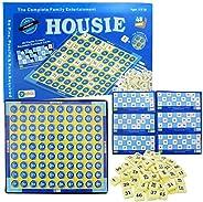 Ekta Housie Board Game with 48 Reusable Cards & Tile Fixable Board