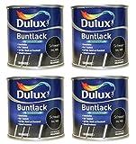 4 x 250ml Dulux Buntlack Seidenmatt für innen und außen 1 Liter Farbton...