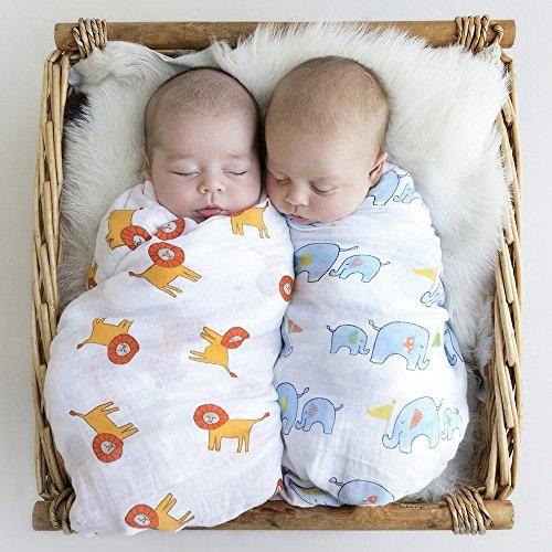 House of Quirk 1 Pc Muslin Cotton Blanket Newborn Baby Blanket Swaddle Bath Towel (36x36 inch) (Colour and design as per availability)