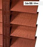 LIQICAI Linden Wood Persianas venecianas de doble función, listones de ancho 50MM, ancho x caída, disponible en 3 tamaños ( Color : 006-Model A , Tamaño : 80 x 160 cm-2 Set )