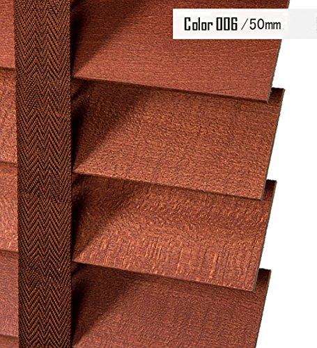 Preisvergleich Produktbild LIQICAI Linden Wood Jalousie Dual Function, 50MM Breite Latten, Breite x Drop, erhältlich in 3 Größen ( Farbe : 006-Model A , größe : 60 x 160 cm-3 Set )