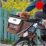 yosoo Portable Fahrrad Front Tasche Top Tube Pannier Fahrradtasche Fahrrad Rahmen Aufbewahrung Tragekorb Kleiner Hund Katze Outdoor Travel Pet Bike Bag, braun
