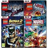 Compil 4 jeux Lego : Marvel+Movie+Hobbit+Batman 2